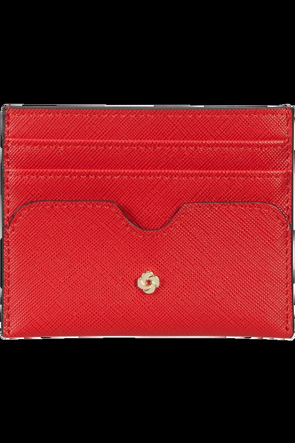 Samsonite Wavy Slg 337 - 6 Credit Card Holder  Klassisk rød