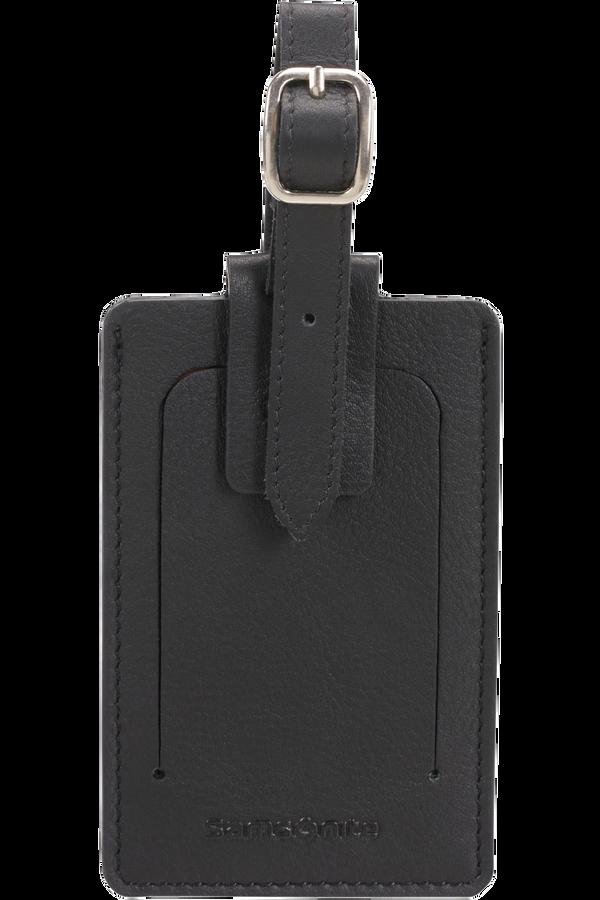 Samsonite Global Ta ID Leather Luggage Tag Svart