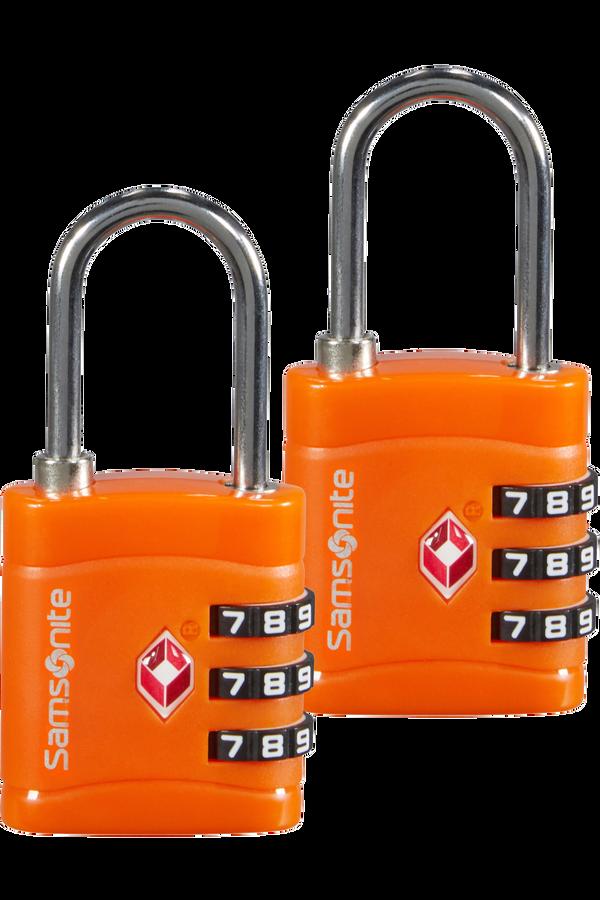 Samsonite Global Ta Combilock 3 dial TSA x2 Oransje
