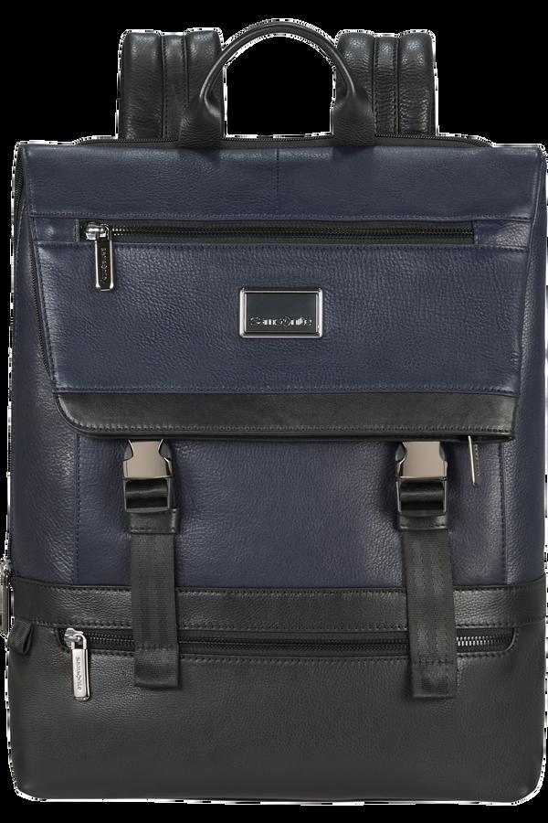 Samsonite Waymore Lth Laptop Backpack Flap Slim  15.6inch Blå