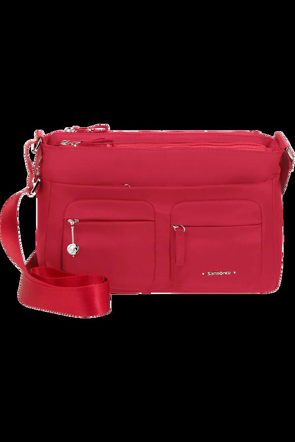 Samsonite Move 3.0 Horizontal Shoulder Bag + Flap  Kirsebærrød