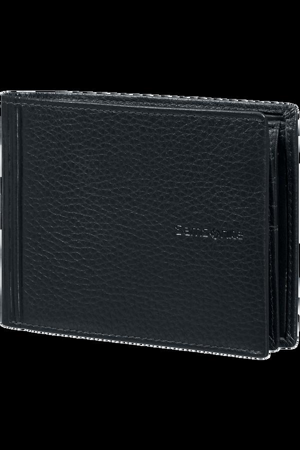 Samsonite Double Leather Slg 007 - B 7CC+VFL+C+2C+W  Svart