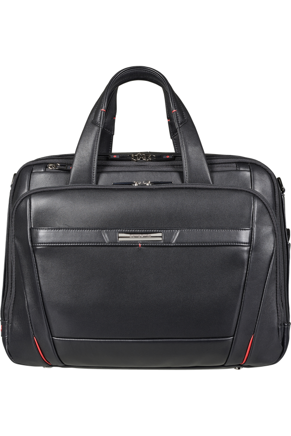 Samsonite Pro-Dlx 5 Lth Laptop Bailhandle Expandable  15.6inch Svart