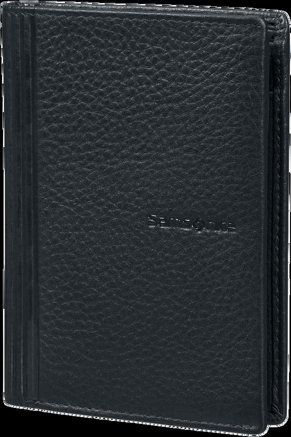 Samsonite Double Leather Slg 137 - W 6CC+HFL+2W+2C  Svart