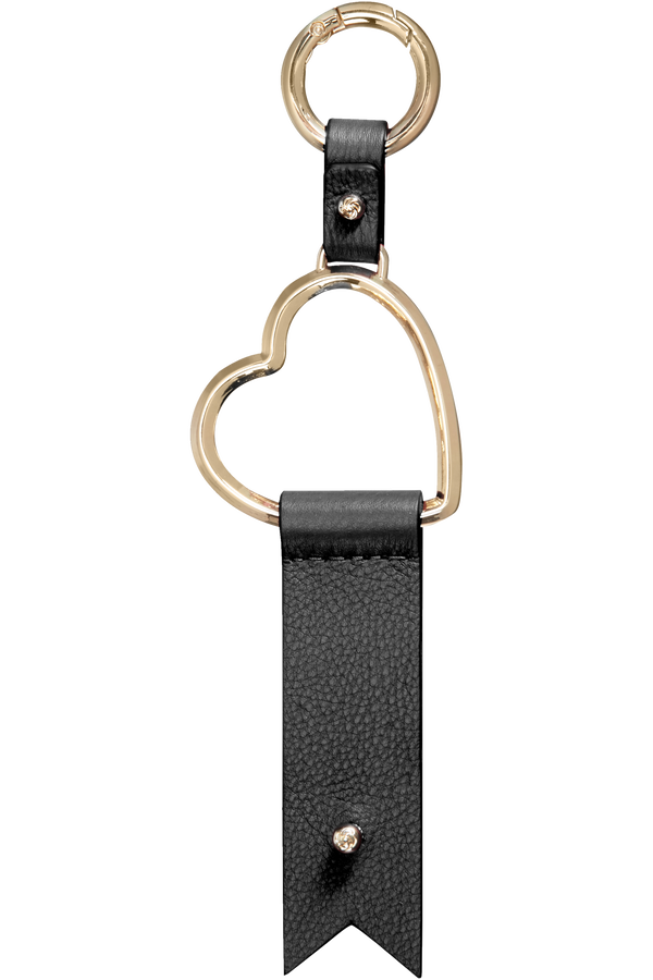 Samsonite Lady Charmy Heart Key Ring  Svart